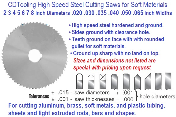 Milling Saws High Speed Steel Cobalt Cutting Tools