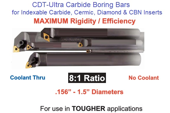 Micro Carbide Indexable Boring Bars : Indexable boring bars steel heavy metal carbide solid